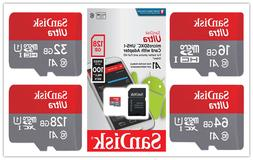 SanDisk Ultra 16GB 32GB 64GB 128GB Micro SD C10 SDHC SDXC Fl