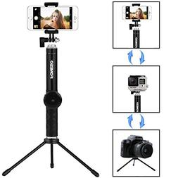 Selfie Stick Tripod with Bluetooth Remote for iPhone 6 6s 7
