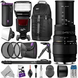 Sigma 70-300mm f/4-5.6 DG Macro Telephoto Zoom Lens for NIKO