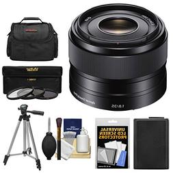 Sony Alpha E-Mount 35mm f/1.8 OSS Lens with Battery + Case +