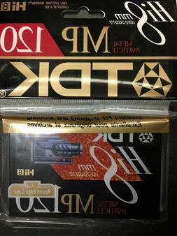 TDK MP120 Hi-8 Video Cassette