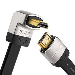 UGREEN 10FT HDMI Right Angle Cable with 270 Degree Elbow Fla