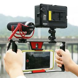 Video Camera Cage Stabilizer Handle Grip Rig for iPhone Sony