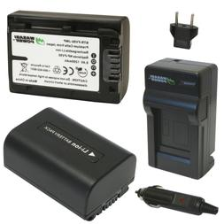 Wasabi Power Battery  and Charger for Sony NP-FV30, NP-FV40,