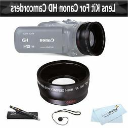 Wide Angle Lens Kit for Canon VIXIA HF R82, HF R80, HF R800,