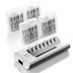 EBL Rechargeable AAA Batteries 16-Packs  with AA AAA Smart B