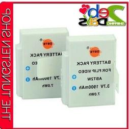DSTE 2x ABT2W Rechargeable Li-ion Battery For CISCO Flip Ult