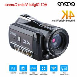 ORDRO AC1 4K WIFI 24MP Infrared Digital  Video Camera CMOS 3