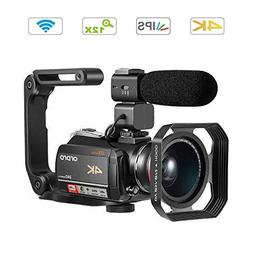 Ordro AC5 4K Camcorder 3.1 IPS Ultra HD Optical Zoom Camera