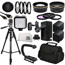 Professional Accessory Package For Canon XA10, XA20, XA25 &