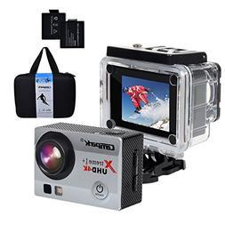 Campark ACT74 Action Camera 4K 30fps WiFi Ultra HD Waterproo
