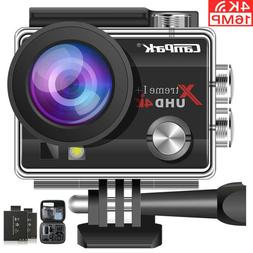 Campark ACT74 Action Camera 4K 16MP WiFi Sports Cam Underwat
