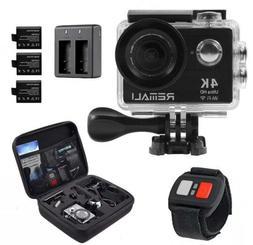 Sports Action Camera, 4K HD 1080P@60fps, 12MP, WIFI, Waterpr