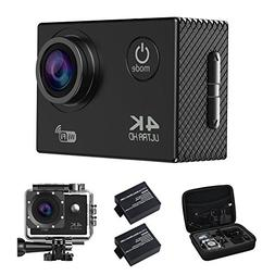 Action Camera, 4K16MP WiFi Waterproof Sports Diving Cam DV C