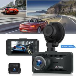 TOGUARD Both 1080P Dual Dash Cam Front and Rear Dual Lens Ca