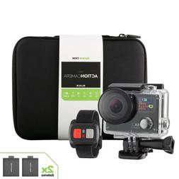 4K Sports Action camera Dual Screen Ultra HD 2 Battery + Rem