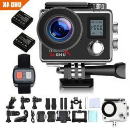 Campark Action Camera 4K WiFi Ultra HD Sports Cam Waterproof
