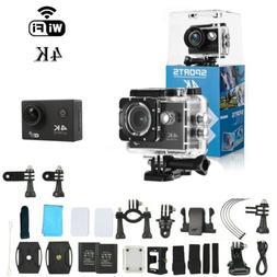 Action Camera 4K WiFi Waterproof DV Sports Go Pro Cam Underw