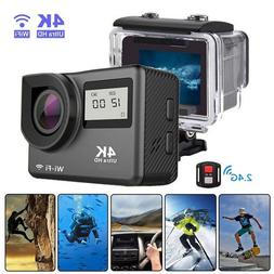 "Action Camera <font><b>4K</b></font> WiFi 2.0"" Underwater Wa"