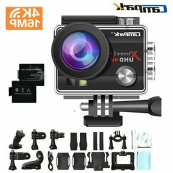 Campark Action Camera 16MP 4K WiFi Underwater Photography Sp