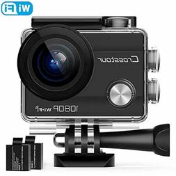 Crosstour Action Camera Rechargeable WiFi Underwater 1080P 1