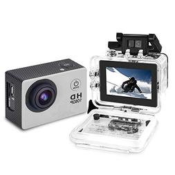 YUNTAB Sport Action DV Camera, HD 1080P 2.0 inch, 5MP, 120°