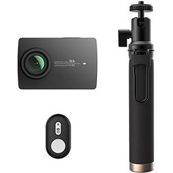 YI 4K Action and Sports Camera Selfie Stick Bundle, 4K/30fps