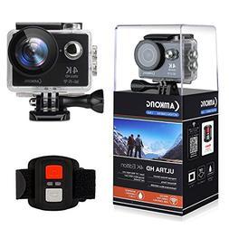 CAMKONG 4K Action Camera, Ultra HD Wifi Waterproof Action Ca