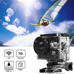 Action Camera, Greatever WIFI UHD 4K Action Camera Waterproo
