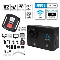 Action Sports Camera <font><b>4K</b></font> Gopro WiFi 720P