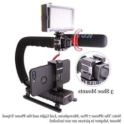 Video Action Stabilizer Stabilizing Handle Grip Rig with 3 S