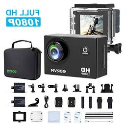 Action Camera HD 1080P Underwater Sports Camera 12MP Waterpr