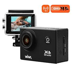 JVIN 4K Sports Action Camera Waterproof Remote Control Wifi