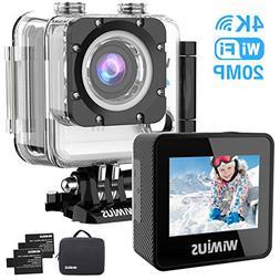 WiMiUS Action Camera 4K 20MP WiFi Sports Camera Ultra HD Wat
