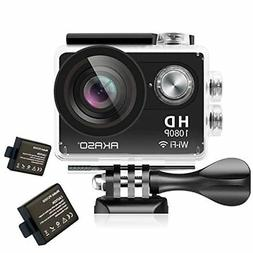 AKASO Action Camera 1080P HD WiFi 12MP Waterproof Sports Cam