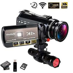 Actor-DV-005 4K WiFi Full Spectrum Camcorders, Ultra HD Infr