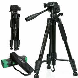 Adjustable Aluminium Portable Camera Tripod&Pan Head Travel