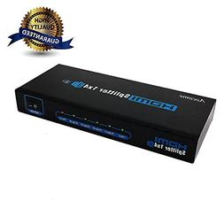 Aocome Advanced 1x4 4 Ports HDMI Powered Splitter for Full H