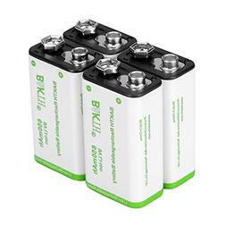 BAKTH 9V Advanced Li-ion Battery 9 Volt 650mAh High Capacity