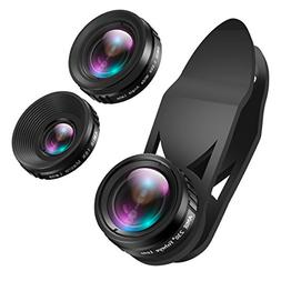 AMIR 3 in 1 Clip-on Cell Phone Camera Lens Kit, 25x Macro Le