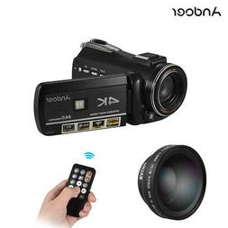 Andoer AC3 4K 300X 24MP Digital Video Camera Camcorder DV Re