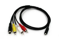 AV TV Cable Cord For Sony Handycam Camcorder VMC-15FS DCR-SR