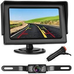 Emmako backup Camera and 4.3'' display Monitor Kit Waterproo