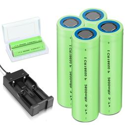 Batteries 2600mAh 18650 Rechargeable 3.7V Flat Top RC Batter