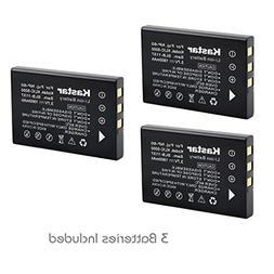 Kastar Battery  for Samsung SLB-1137, Fujifilm NP-60, Kodak
