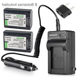Kastar Battery 2 Pack + Charger for Sony NP-FV30 NP-FV40 NP-