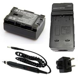 Battery + Charger for JVC Everio GZ-MG750, GZ-MG750AU, GZ-MG