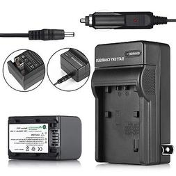 Battery + Charger For Sony HandyCam HDR-HC9 DCR-HC52 NP-FH70