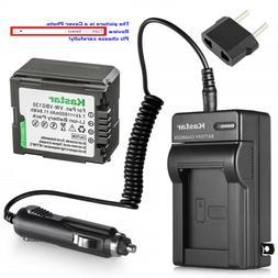 Kastar Battery AC Charger for Panasonic VW-VBG130 PV-GS80 PV