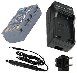 Battery + Charger for JVC Everio GZ-MG130U, GZ-MG230U, GZ-MG